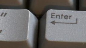 Computertoetsenbord, Sleutels, het Typen stock footage
