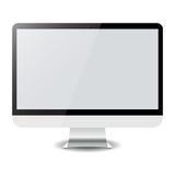 Computervertoning op wit Vector eps10 Royalty-vrije Stock Afbeeldingen