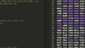 Computerwerkschema op het computerscherm stock videobeelden