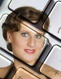 Computerwoman Fotos de archivo libres de regalías