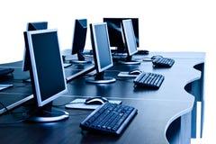 Computerzaal stock afbeeldingen