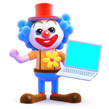 computes för clown 3d Royaltyfri Foto