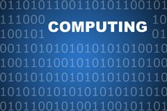 Computing Abstract Background Stock Image