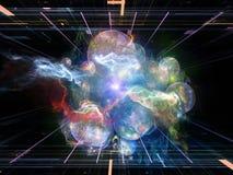 Computing Abstract Visualization Stock Photo