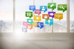 Computing application icons Stock Image