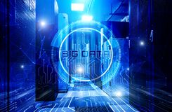 Computing big data and cloud storage in modern data center, the concept of information technology for storage royalty free stock photography