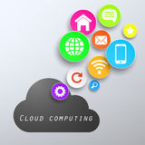 Computing cloud app Stock Photos