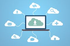 Computing. Cloud computing concept design. This is file of EPS10 format Royalty Free Stock Photography