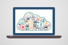 Computing. Cloud computing concept design. This is file of EPS10 format Stock Photo
