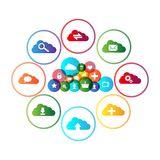 Computing. Cloud computing concept design. This is file of EPS10 format Stock Image