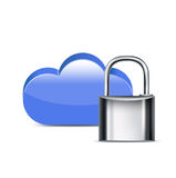 Computing cloud with locker isolated Royalty Free Stock Images