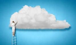 Computing cloud Stock Photo