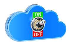 Computing Cloud with switch on-off, 3D rendering Stock Photo