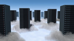 Computing in Clouds Stock Photography