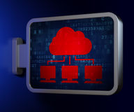 Computing concept: Cloud Network on billboard background Royalty Free Stock Photos