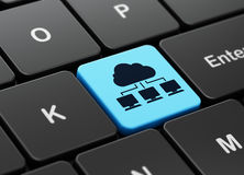 Computing concept: Cloud Network on computer keyboard background Stock Photography