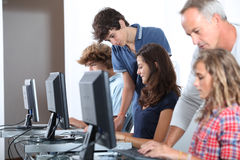 In computing course Stock Photography