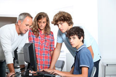 In computing course Royalty Free Stock Photos