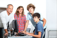 In computing course Stock Photo