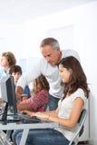 In computing course Stock Photos