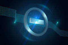 Computing icon on technical background Royalty Free Stock Photos