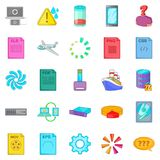 Computing icons set, cartoon style. Computing icons set. Cartoon set of 25 computing vector icons for web isolated on white background Royalty Free Stock Photography