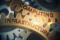 Computing Infrastructure. 3D. Royalty Free Stock Image