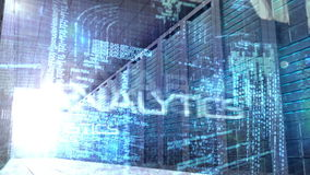 Computing language in server room stock video footage