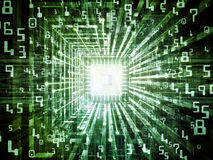 Inner Life of Digital Processor Stock Images
