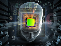 Computing Mind Royalty Free Stock Photos