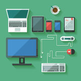Computing and mobile devices Stock Photos
