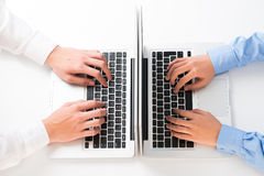 Computing at the office Stock Photography