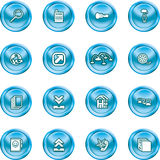 Computing and Website Icons. A set of shiny Computing and Website Icons Royalty Free Stock Photo