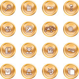 Computing and Website Icons. A set of shiny Computing and Website Icons Stock Photo