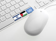Computor keyboard with Flags Royalty Free Stock Photos