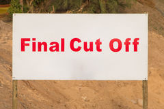 Comrades Marathon Final Cut Off Sign Royalty Free Stock Photo