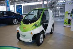 Coms Corps d'automobile de Toyota Électro voiture japan Photographie stock libre de droits