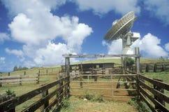 COMSAT satellite dish at Paumalu Satellite Communications at Sunset Beach, Oahu, HI Royalty Free Stock Image