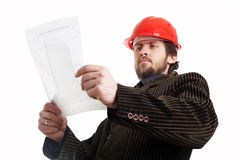 Comstruction foreman Royalty Free Stock Photo