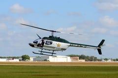 Comté de Polk, hélicoptère de shérif de la Floride Images libres de droits