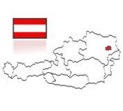 Comtés autrichiens illustration libre de droits