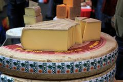 Comte cheese , food market Stock Images