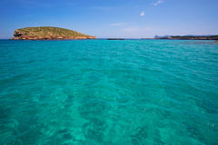 Comte Conta Cala in Sant Josep of Ibiza at balearic Royalty Free Stock Photography