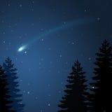 Comète de Noël Image libre de droits