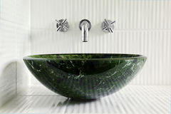Comtemporary bathroom sink Royalty Free Stock Images