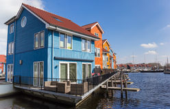 Comtemporary housing at the water in Groningen. Holland Royalty Free Stock Photography