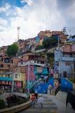 Comuna 13,麦德林的画象取向 免版税图库摄影