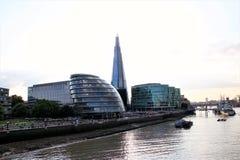 Comune di Londra, il coccio ed il Tamigi Fotografie Stock