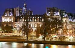 Comune di Parigi alla notte, Francia Fotografia Stock