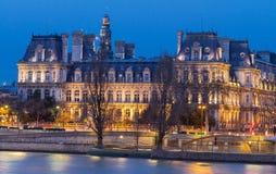 Comune di Parigi alla notte, Francia Immagine Stock
